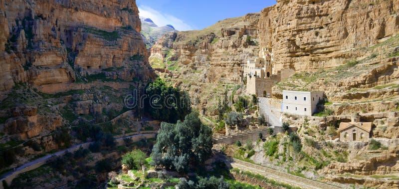 Panoramautsikt av helgonet George Monastery, Jerusalem royaltyfri foto