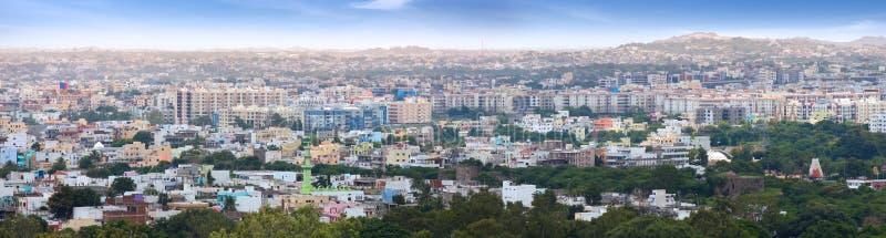 Panoramautsikt av Hyderabad royaltyfri foto