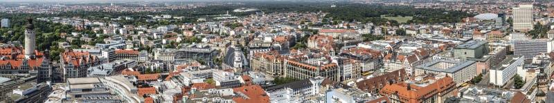 Panoramautsikt av Leipzig royaltyfri bild