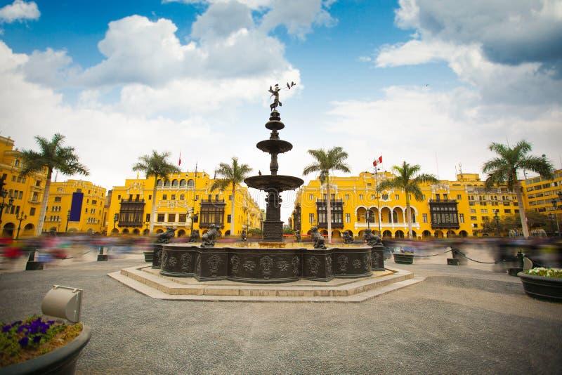 Panoramautsikt av Lima royaltyfri foto