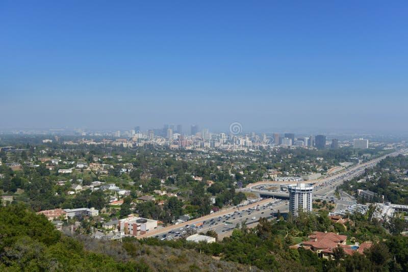 Panoramautsikt av Los Angeles fotografering för bildbyråer