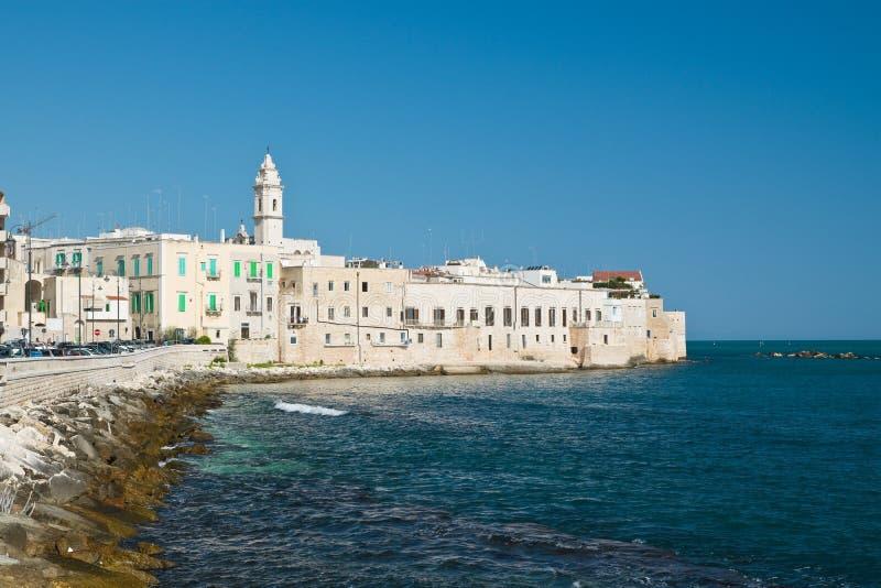 Panoramautsikt av Molfetta Puglia italy royaltyfri foto