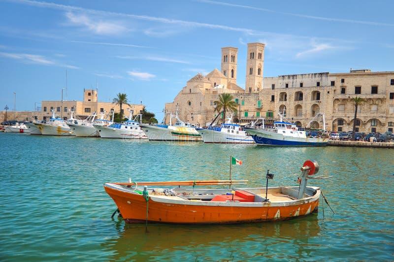 Panoramautsikt av Molfetta Puglia italy royaltyfria bilder