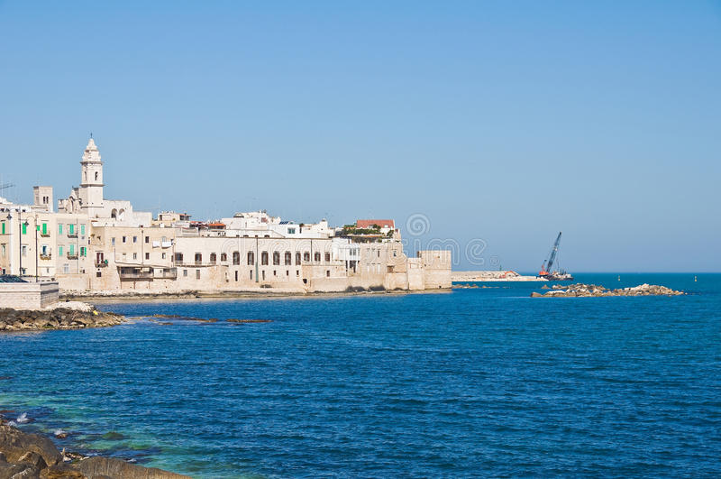 Panoramautsikt av Molfetta Puglia italy royaltyfri fotografi
