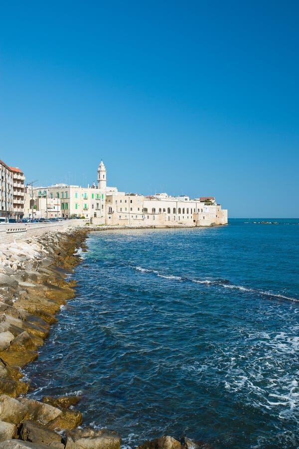 Panoramautsikt av Molfetta Puglia italy royaltyfria foton