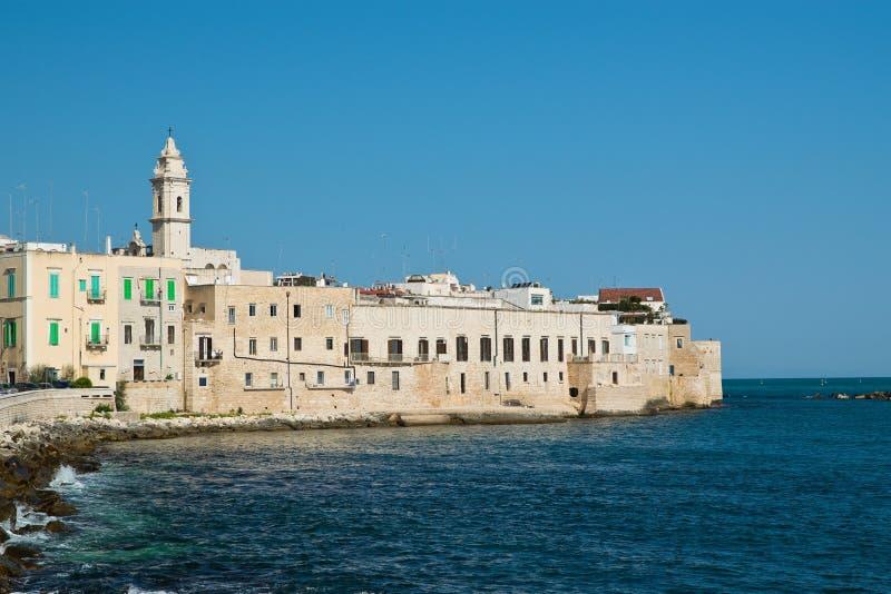 Panoramautsikt av Molfetta Puglia italy arkivbilder