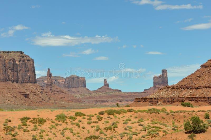 Panoramautsikt av monumentdalen royaltyfria bilder