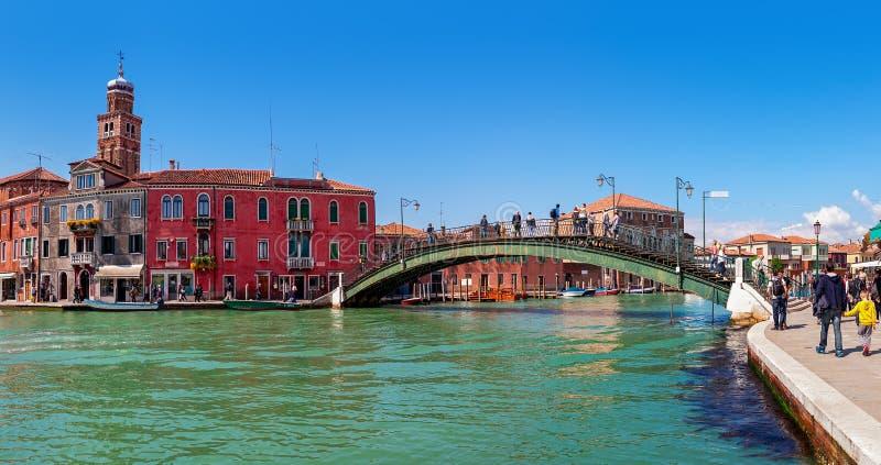 Panoramautsikt av Murano i Italien royaltyfri fotografi