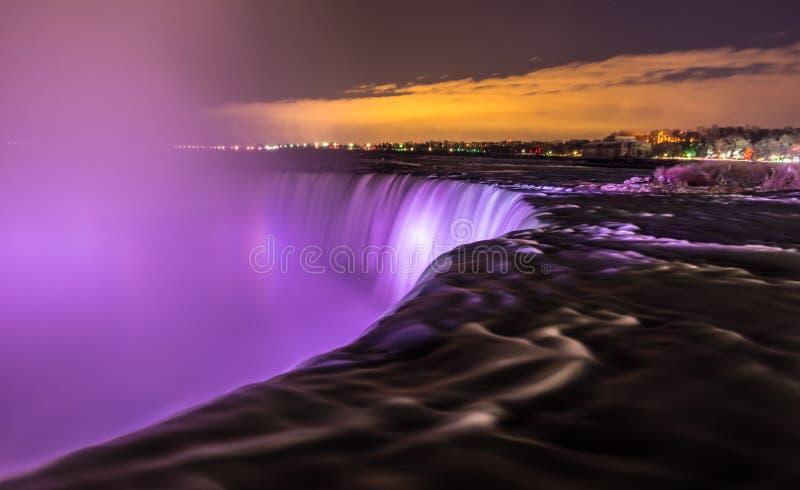 Panoramautsikt av Niagara Falls fotografering för bildbyråer