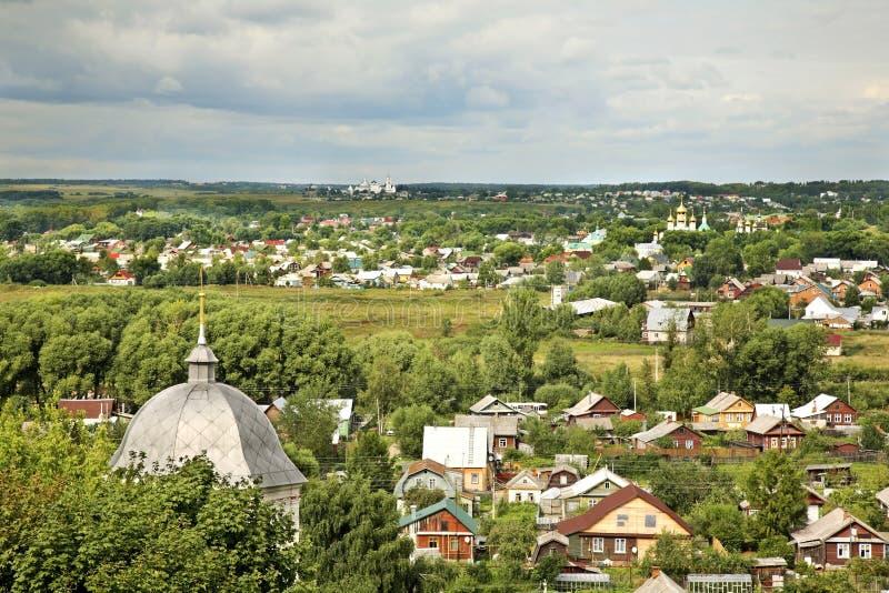 Panoramautsikt av Pereslavl-Zalessky Yaroslavl Oblast Ryssland arkivfoton