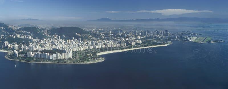 Panoramautsikt av Rio de Janeiro, Brasilien arkivbilder