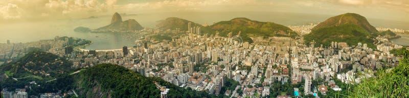 Panoramautsikt av Rio de Janeirocitycsape fotografering för bildbyråer