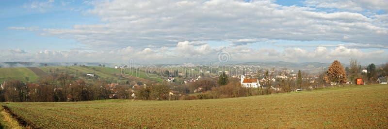 Panoramautsikt av södra Burgenland, Österrike fotografering för bildbyråer