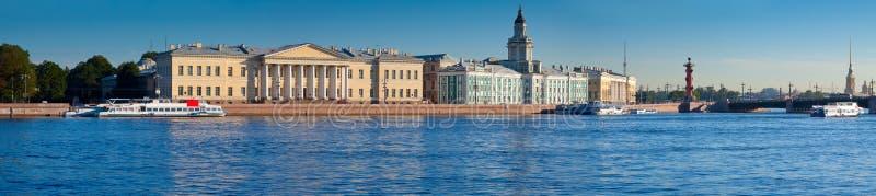 Panoramautsikt av St Petersburg royaltyfri fotografi
