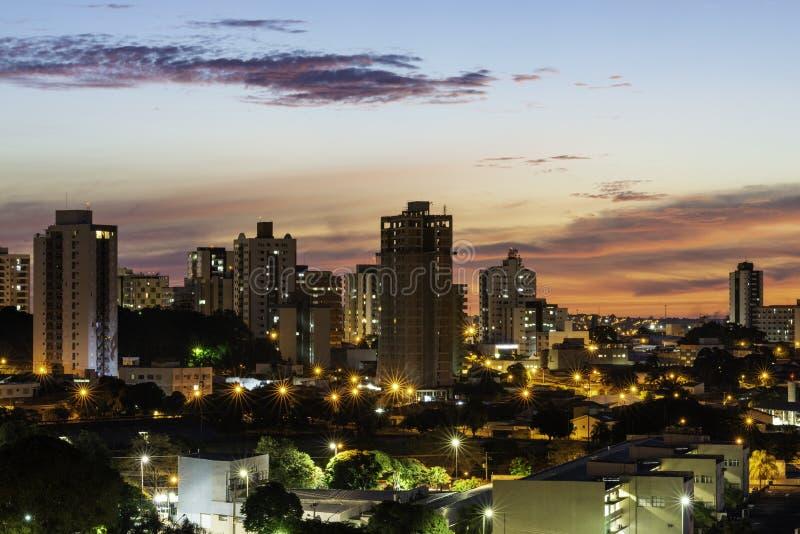 Panoramautsikt av staden av Bauru Inre av tillst?ndet av S?o Paulo _ arkivfoto
