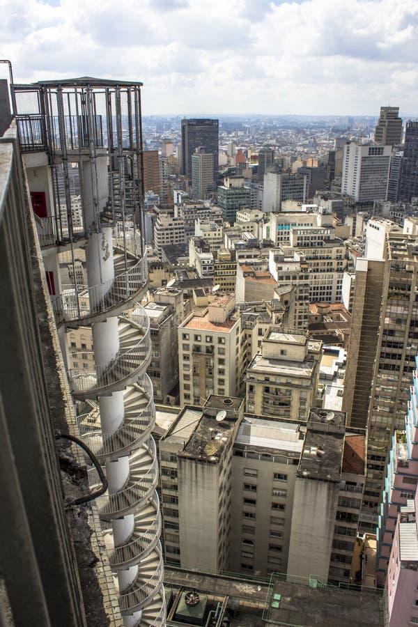 Panoramautsikt av staden av Sao Paulo royaltyfri bild