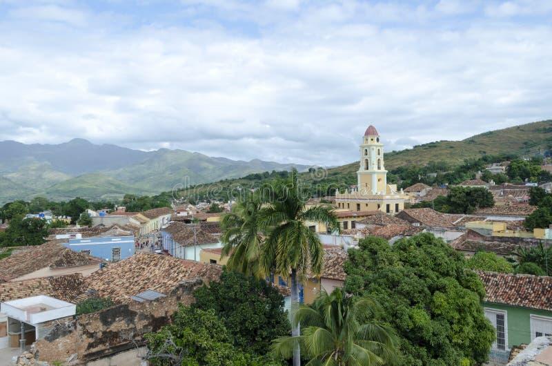Panoramautsikt av Trinidad, Kuba fotografering för bildbyråer