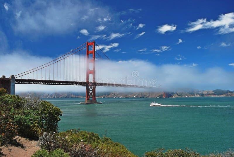 Panoramautsikt på Golden gate bridge, San Francisco arkivfoton