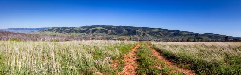 Panoramautsikt uppifrån av Casper Mountain arkivfoto