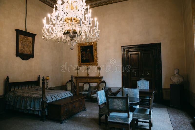 Panoramautsikten av den Palazzo Medici inre, kallade också Palazzo Medici Riccard royaltyfria foton