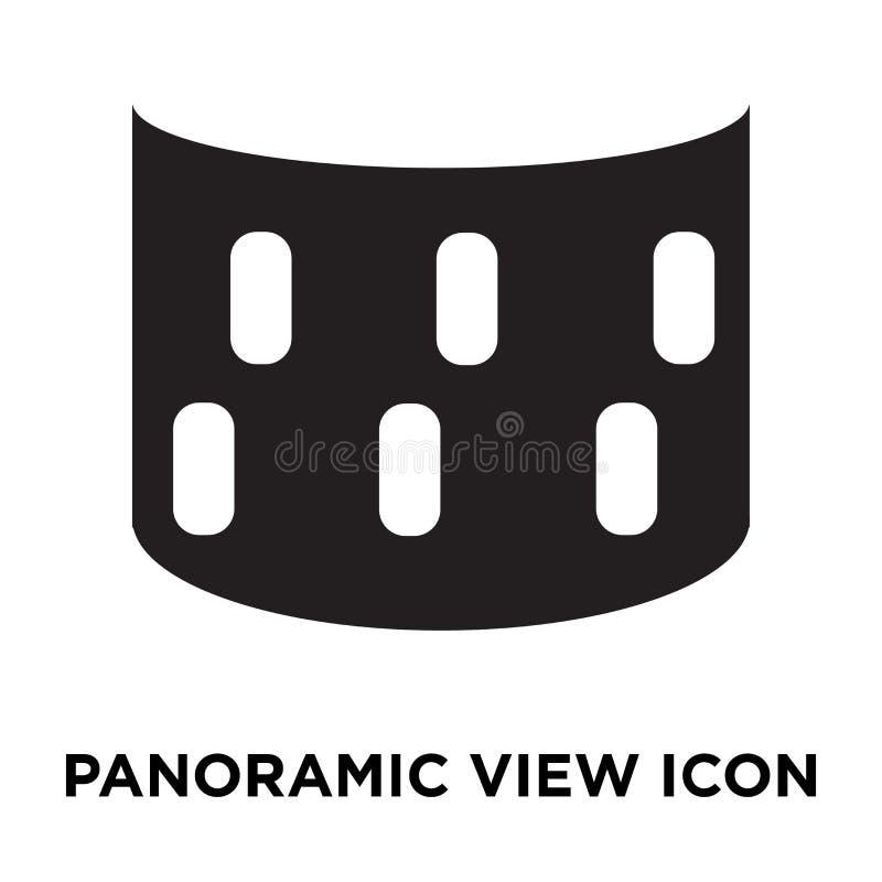 Panoramautsiktsymbolsvektor som isoleras på vit bakgrund, logo Co royaltyfri illustrationer