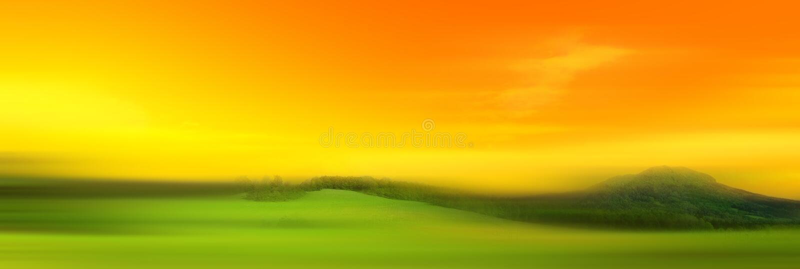Panoramawiese stock abbildung