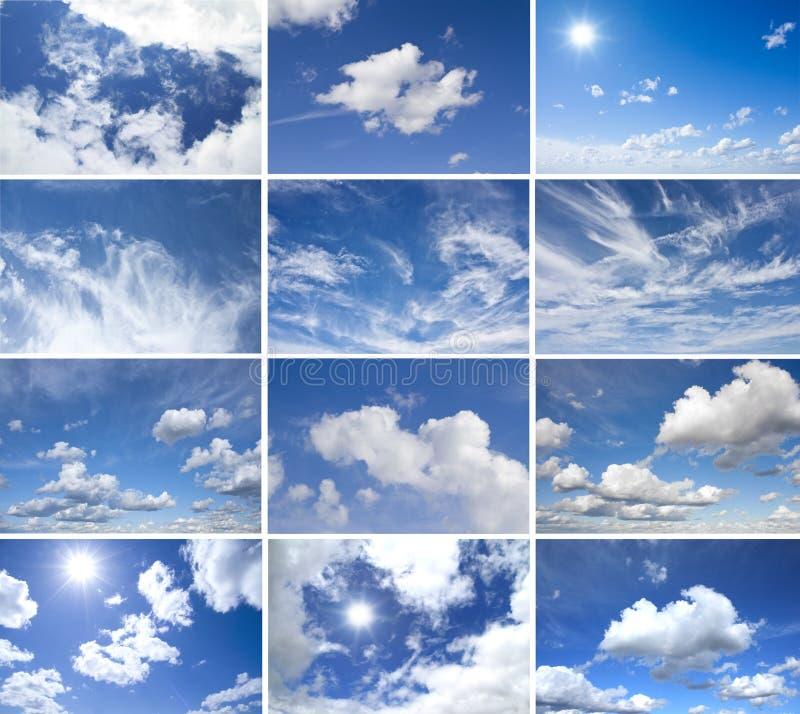 Panoramawolkensatz lizenzfreie abbildung