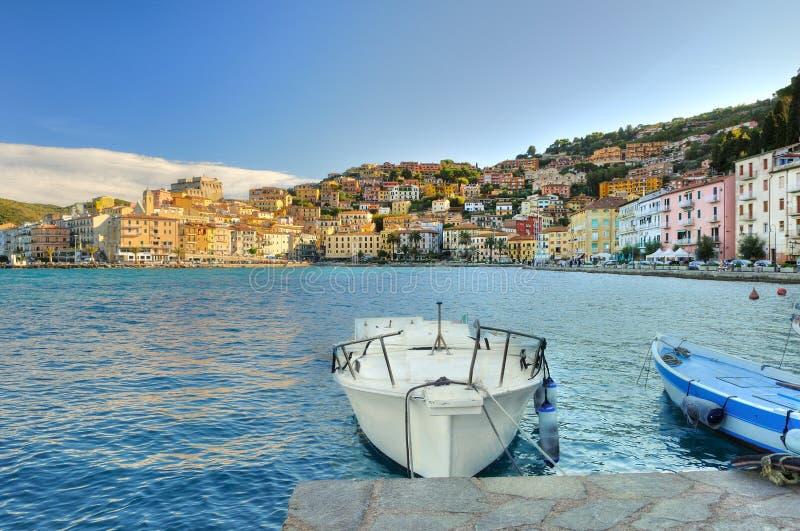 Panorame de Porto Santo Stefano photo stock