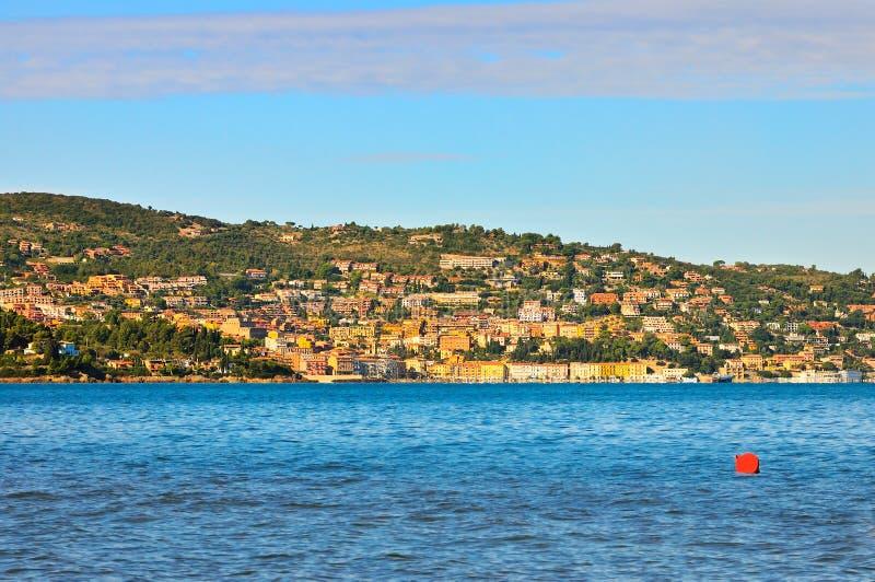 Panorame de Porto Santo Stefano images stock
