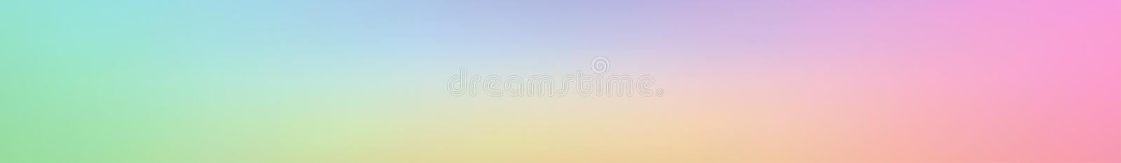Panoramic abstract colored blurred gradient background royalty free illustration