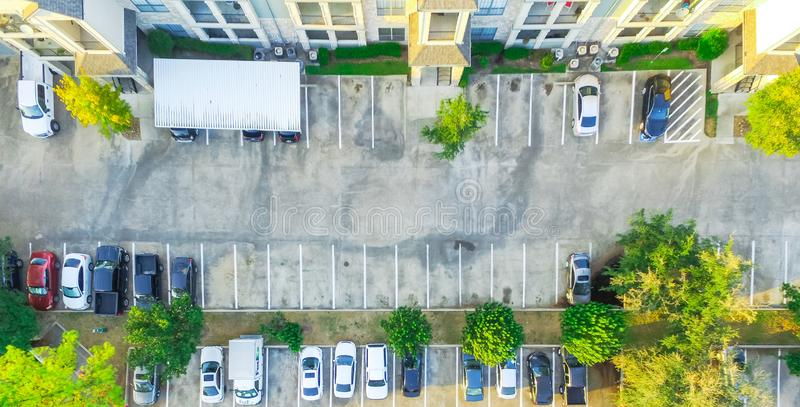 Panoramic aerial view apartment building complex in Houston, Tex stock image