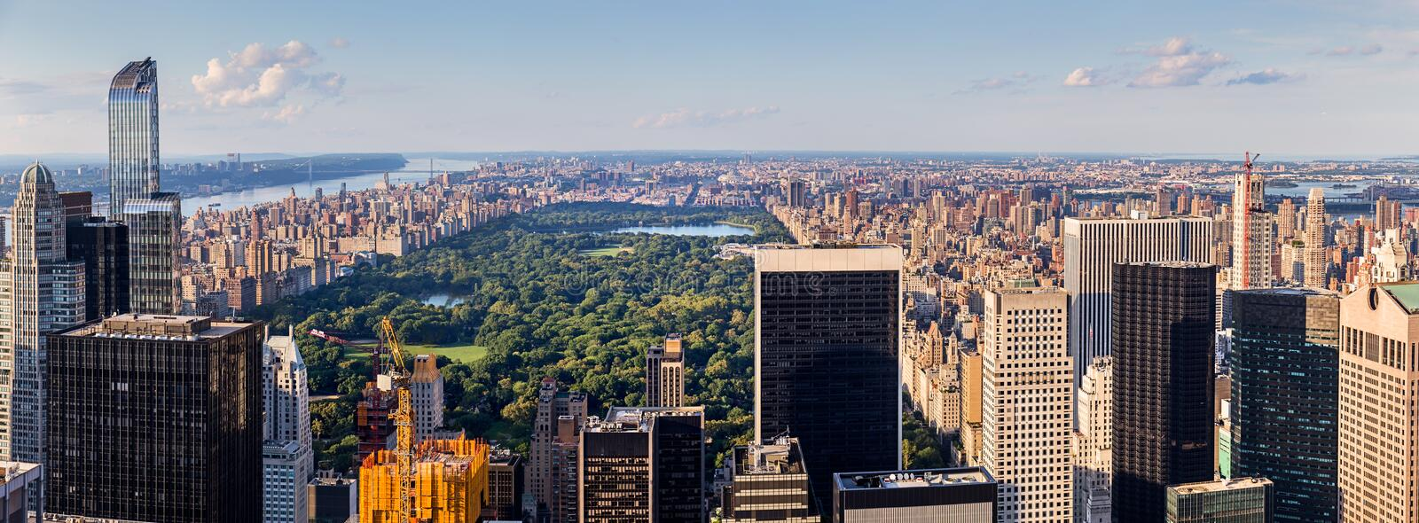 Panoramic Aerial View of Central Park stock photo