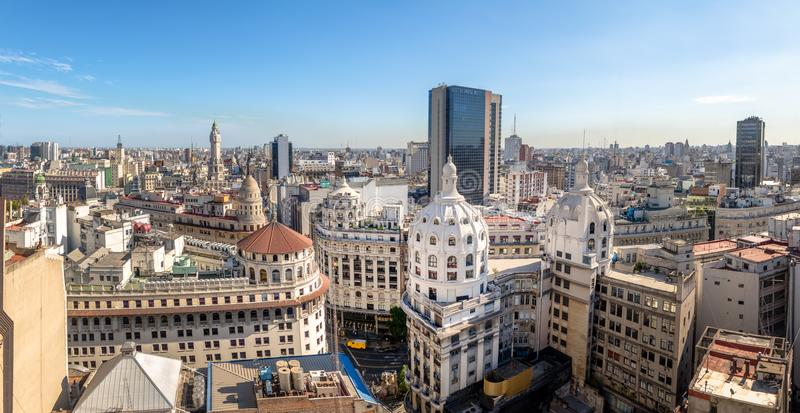 Panoramic aerial view of Downtown Argentina - Buenos Aires, Argentina. Panoramic aerial view of Downtown Argentina in Buenos Aires, Argentina stock images