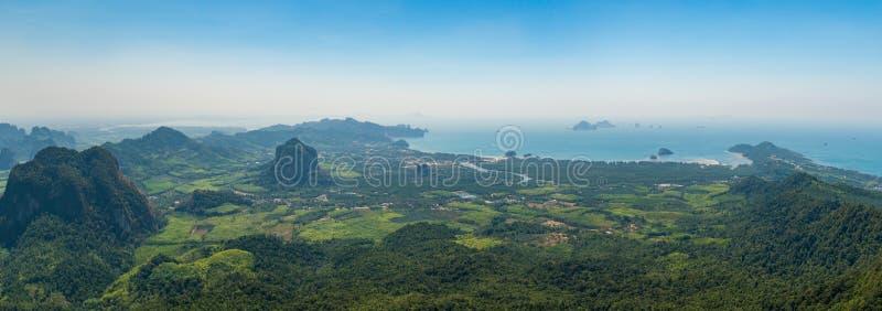 Panoramic aerial view of Krabi province royalty free stock photo