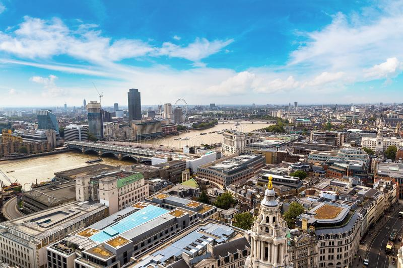 Panoramic aerial view of London royalty free stock images