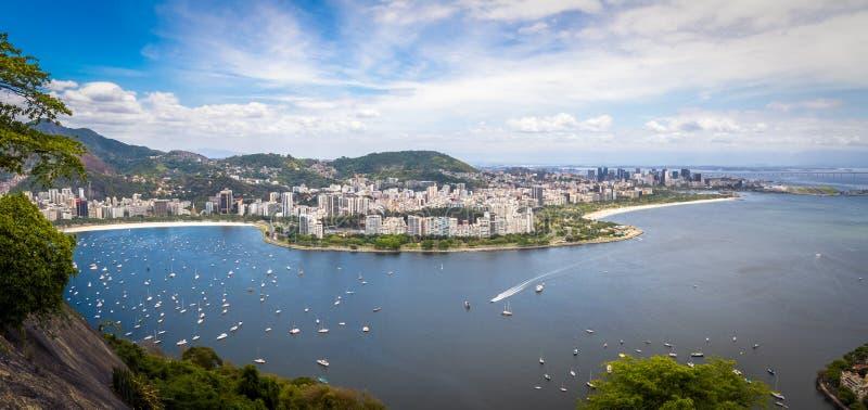 Panoramic aerial view of Rio de Janeiro and Guanabara Bay - Rio de Janeiro, Brazil royalty free stock photo