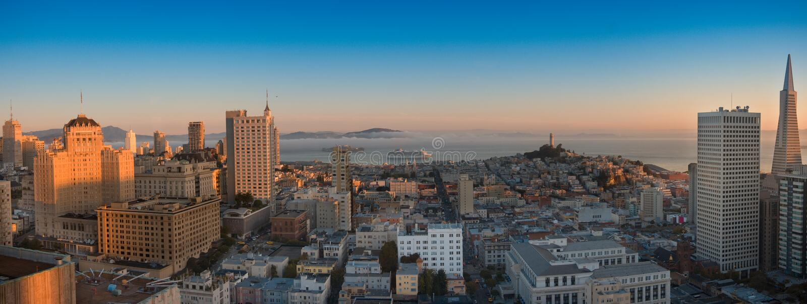 Download Panoramic Aerial View  San Francisco And Bay Area Stock Photo - Image: 12743846