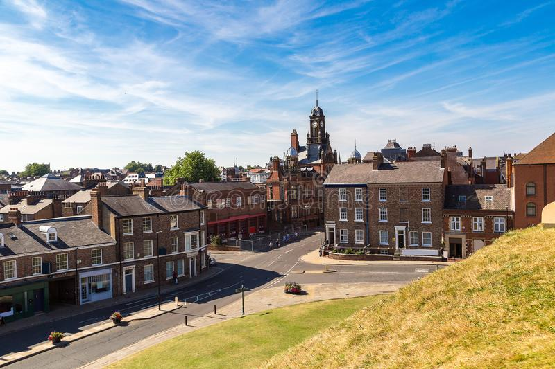 Panoramic view of York, England royalty free stock photography