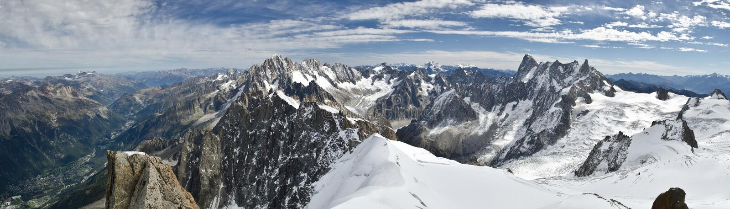 Panoramic Alpine views stock photography
