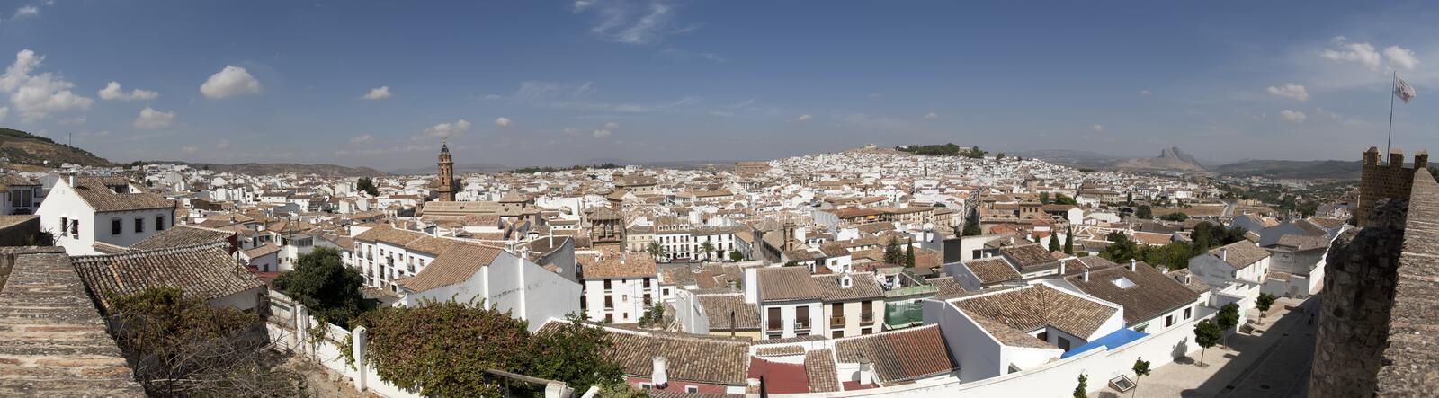 Panoramic Antequera royalty free stock images