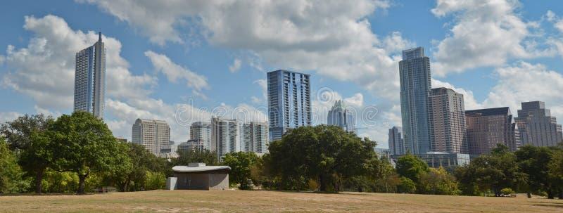 Panoramic Austin Texas skyline stock image