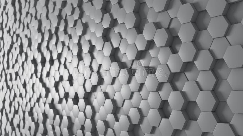 Panoramic Background Hexagonal royalty free stock photo