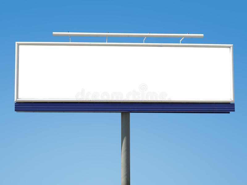 Panoramic billboard royalty free stock photo