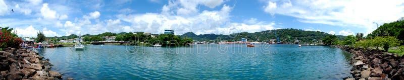 Panoramic Castries, Caribbean St. Lucia Capital royalty free stock photos