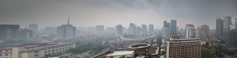 Panoramic Chengdu,China royalty free stock photo