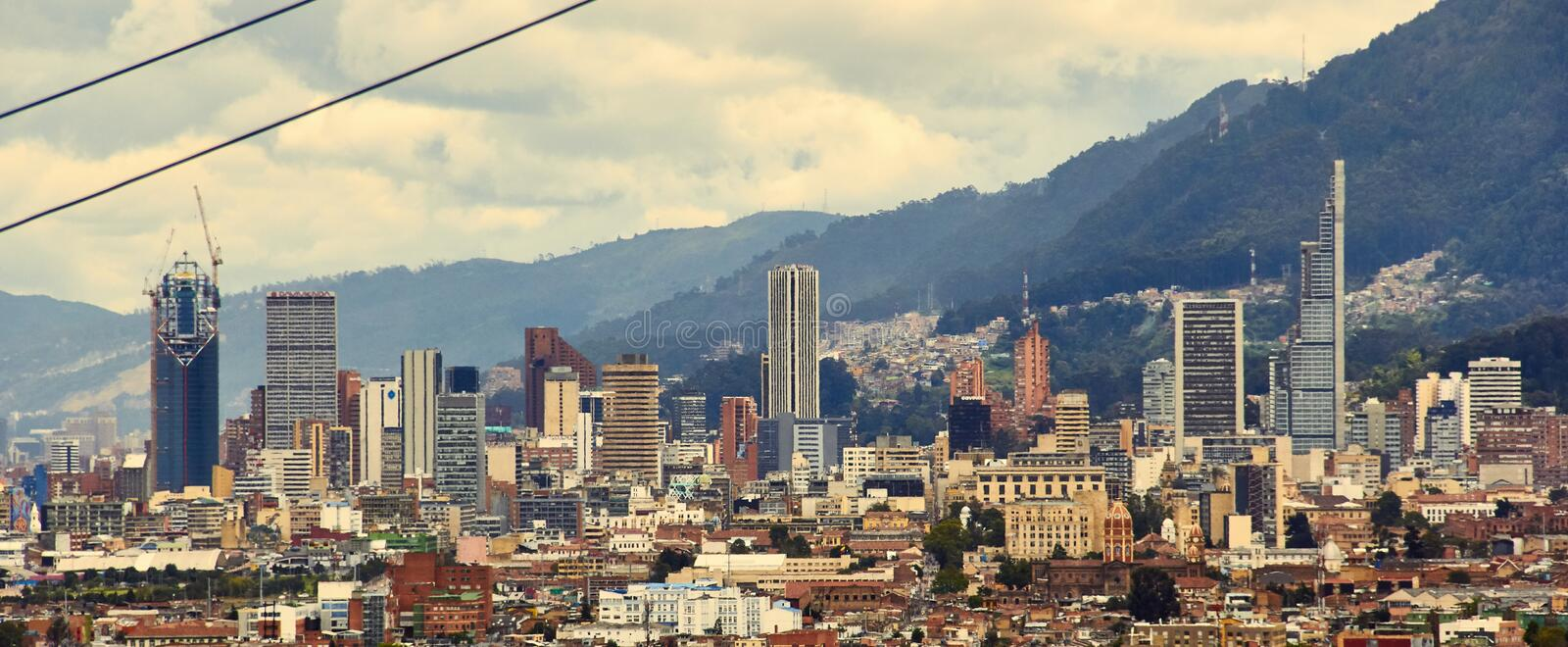 Panoramic of the city center of bogota royalty free stock photo