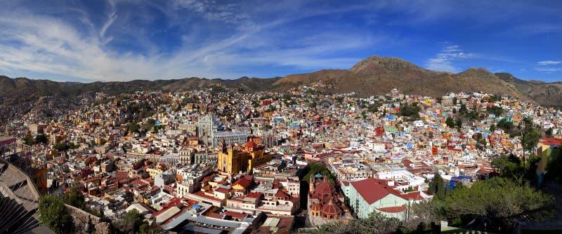 Panoramic cityscape of Guanajuato Mexico stock photo