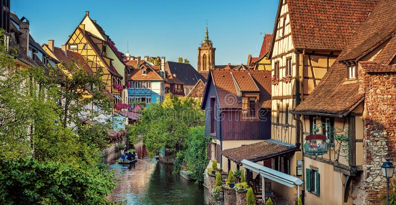 Colmar Old town, Alsace, France stock photos
