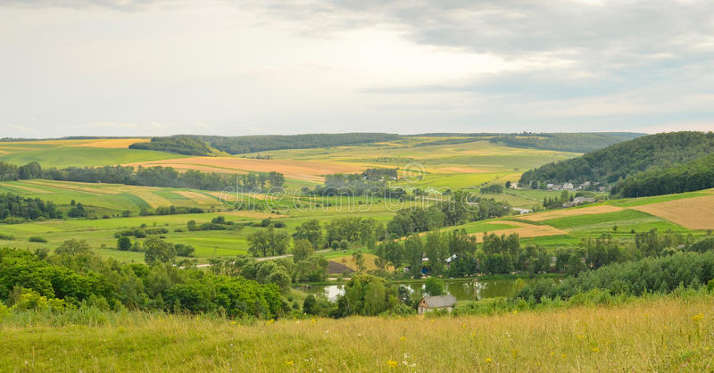 Download Panoramic country view stock photo. Image of field, trees - 26220006