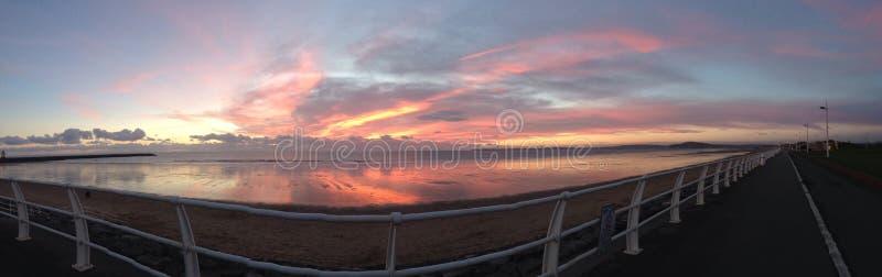 Panoramic evening royalty free stock photo